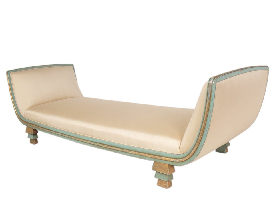 Rare skyscraper daybed or chaise longue designed by paul for 1930s chaise lounge