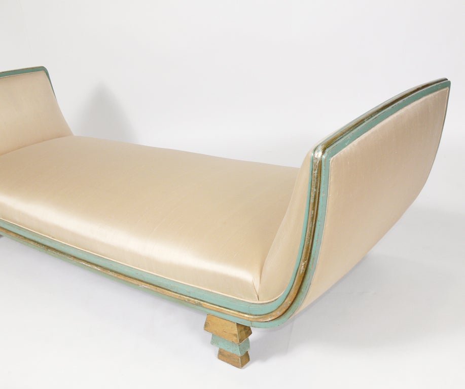 Rare skyscraper daybed or chaise longue designed by paul for Chaise lounge atlanta