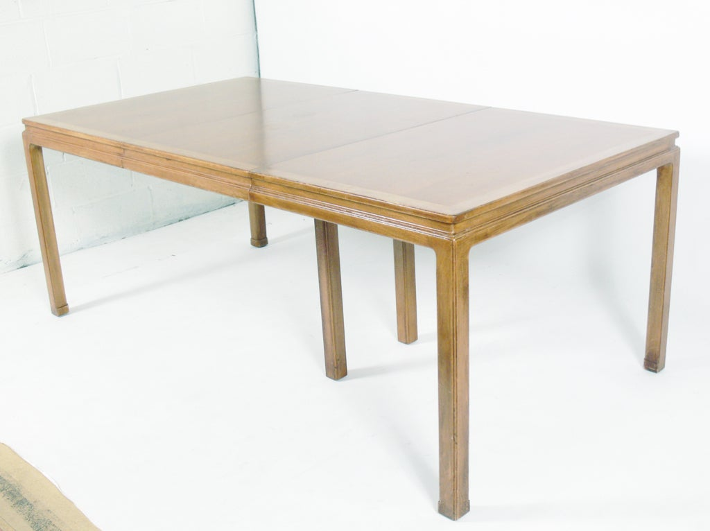 Dining Table With Subtle Asian Design By Edward Wormley Dunbar At 1stdibs