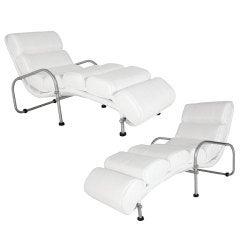 Pair of Warren McArthur Chaise Longue Chairs
