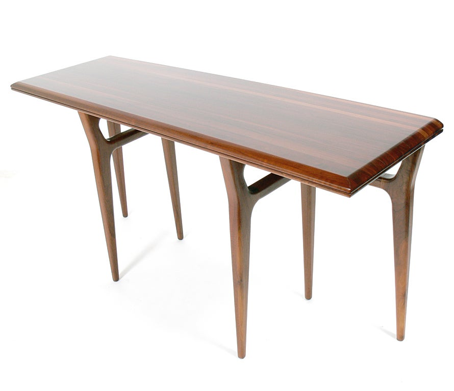 Modernist Italian Flip Top Console Table at 1stdibs
