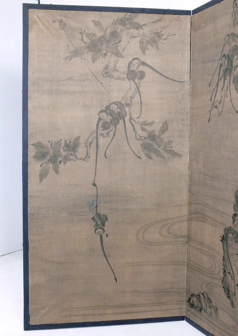 Hand Painted Asian Screen 2