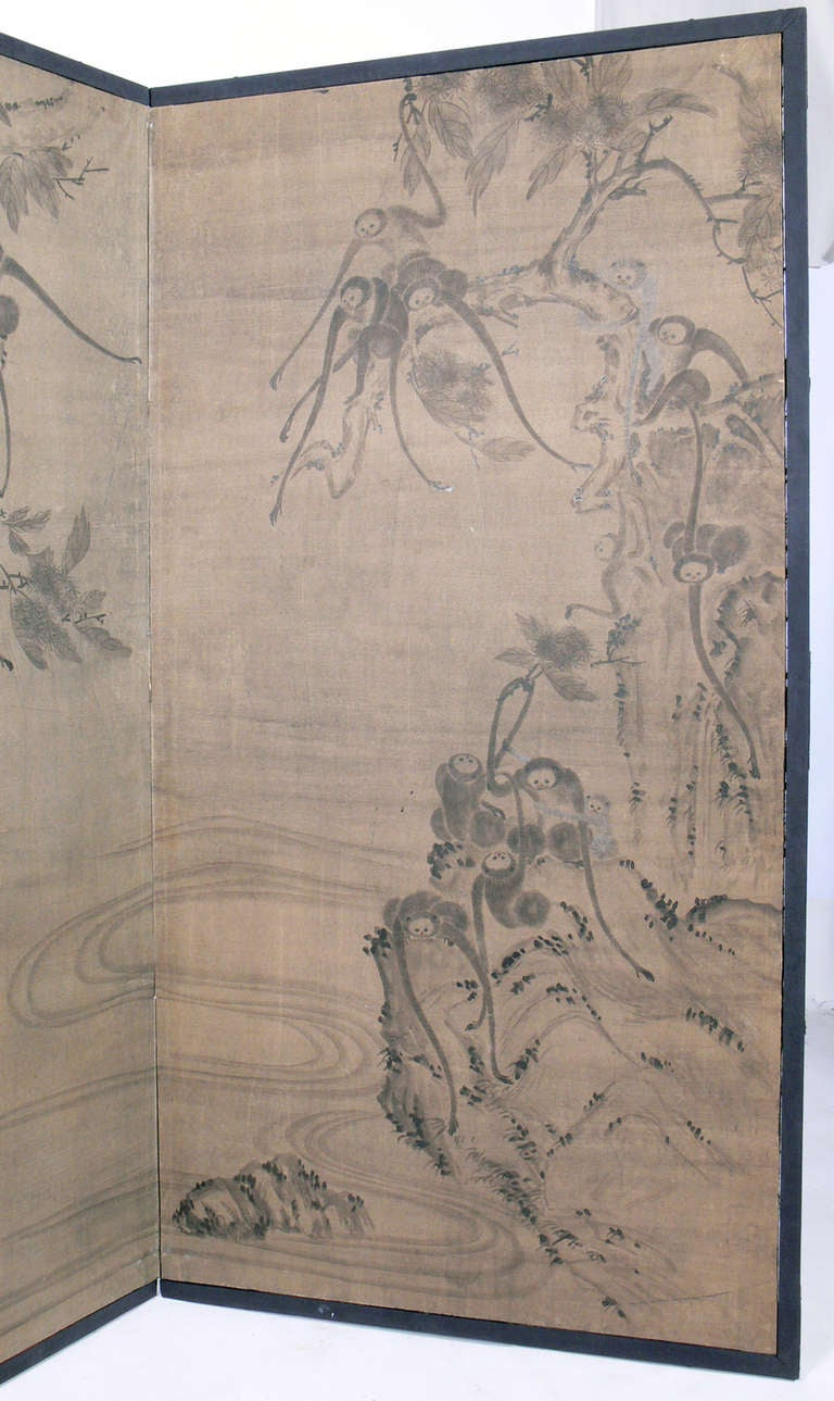 Hand Painted Asian Screen 3