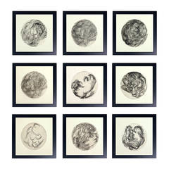 Group of Modernist Black and White Lithographs #2 by A.R. de Ycaza