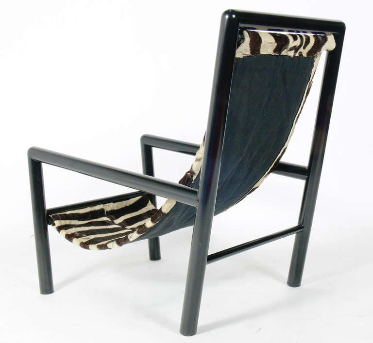 zebra lounge chair. Black Bedroom Furniture Sets. Home Design Ideas