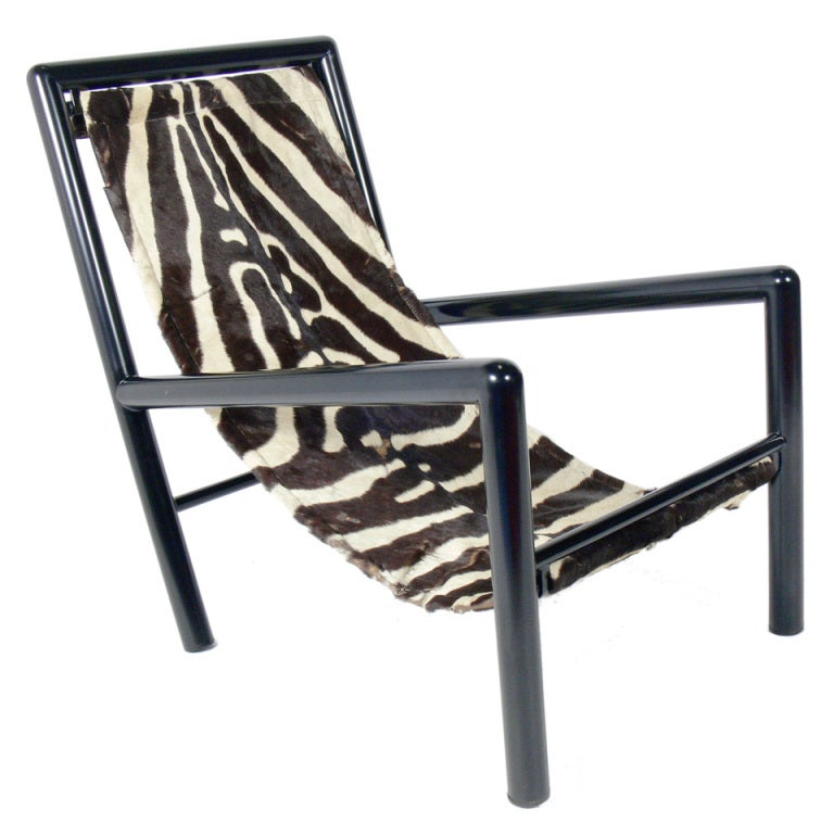 Robert Mallet Stevens Zebra Sling Lounge Chair At 1stdibs