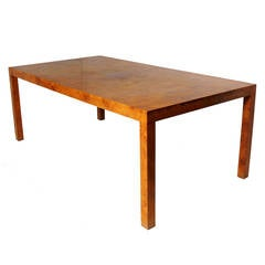 Olive Ash Burled Wood Dining Table by Milo Baughman