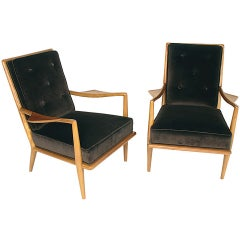 Pair of T.H. Robsjohn Gibbings Wing Arm Lounge Chairs