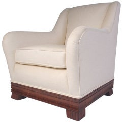 Curvaceous Rosewood Lounge Chair by Eugene Schoen