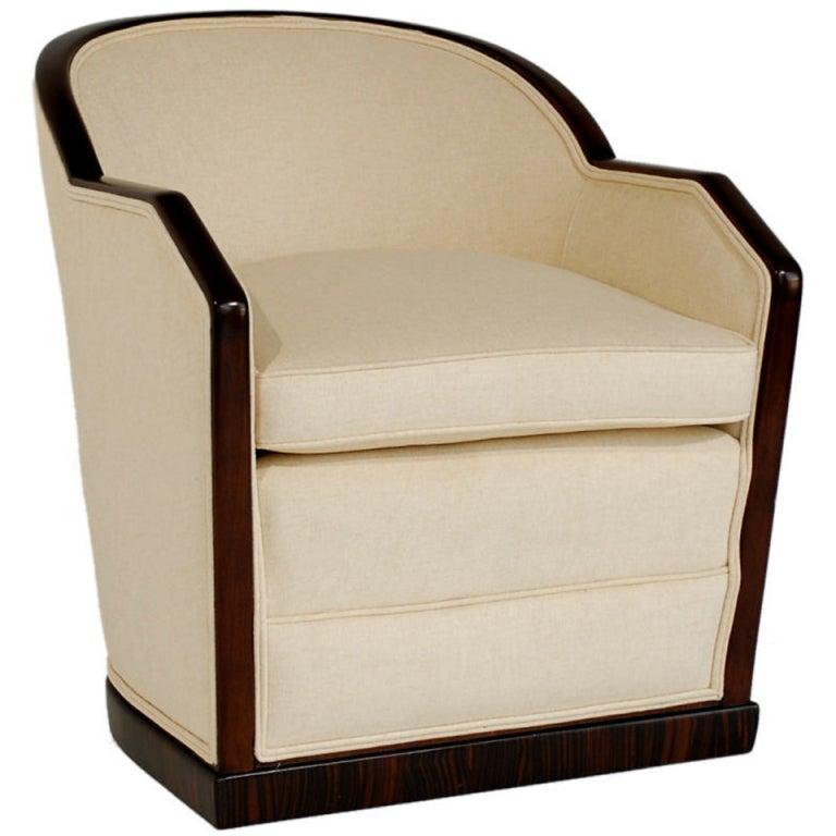 Eugene Schoen Custom Rosewood Art Deco Tub Chair At 1stdibs