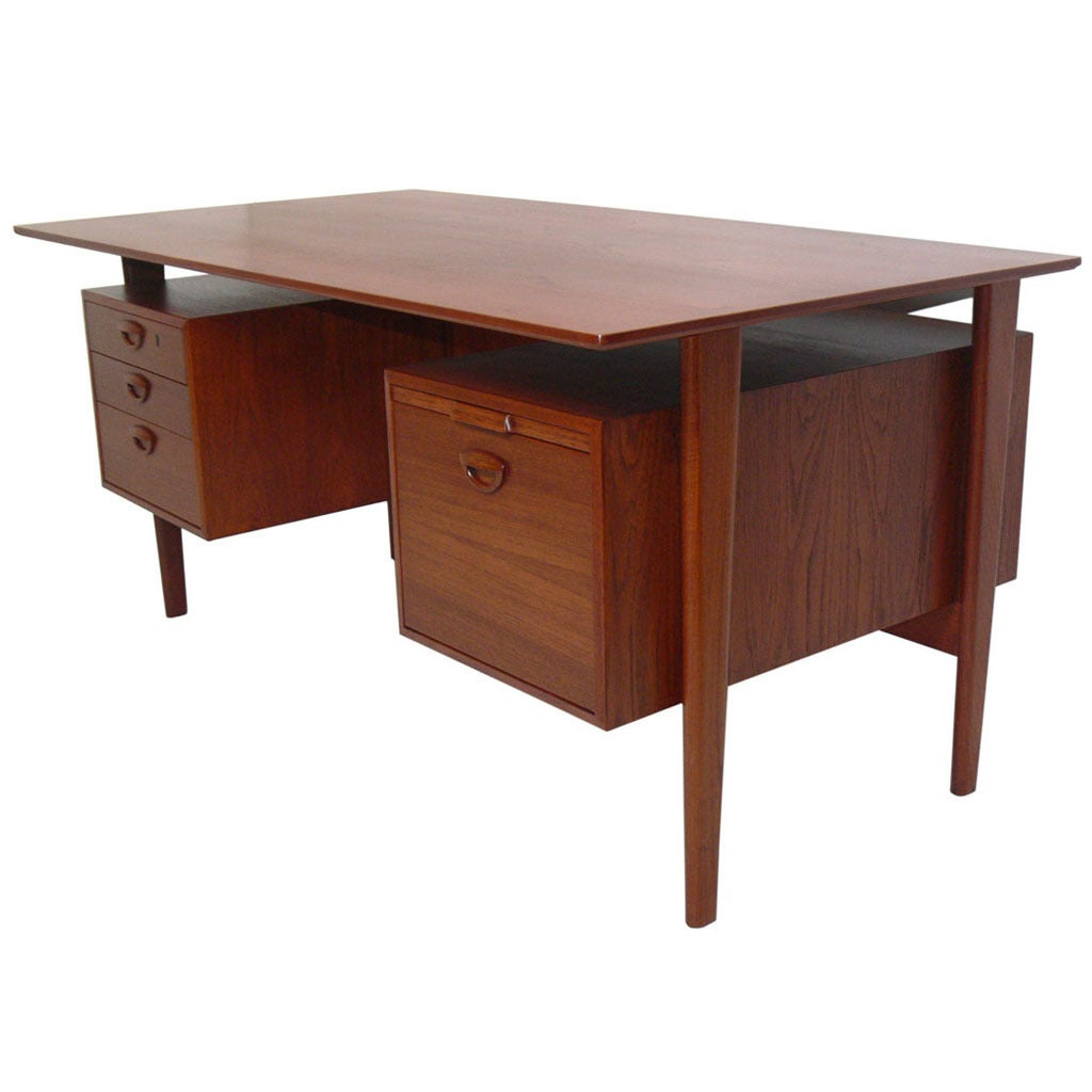 Danish Modern Desk by Peter Hvidt and Orla Molgaard Nielsen