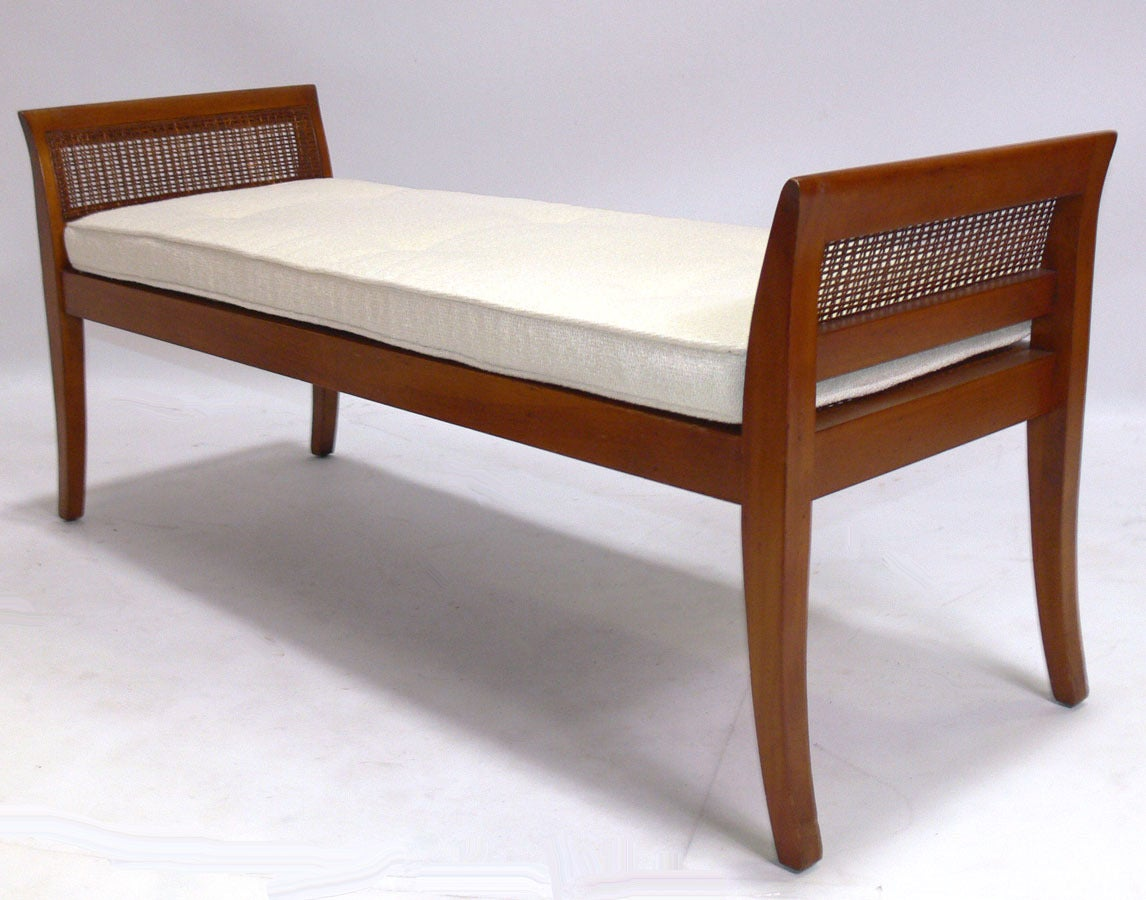 Mid-Century Modern Selection of Modern Benches with Curvaceous Legs For Sale