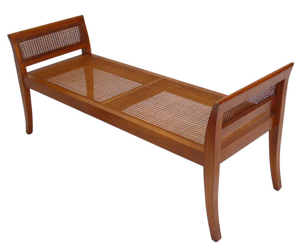 American Selection of Modern Benches with Curvaceous Legs For Sale