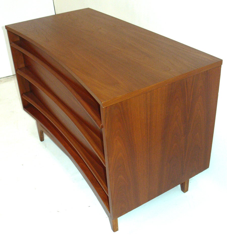 Curved Front Mid Century Modern Chest at 1stdibs