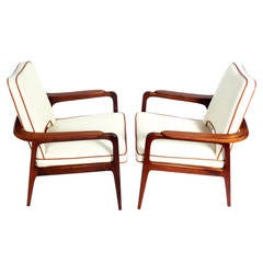 Pair of Danish Modern Lounge Chairs attributed to Sigvard Bernadotte