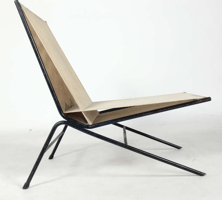 Sculptural Iron and Rope Lounge Chair by Alan Gould at 1stdibs