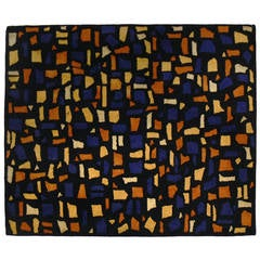 Modernist Wool Rug Designed by Edward Fields