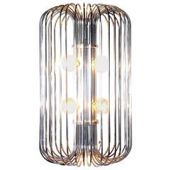 Modernist Chrome Chandelier or Pendant Lamp by Lightolier