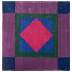 Vibrant Modern Wool Rug by Edward Fields, Circa 1970's - Never Used