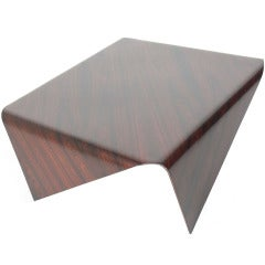 Sculptural Rosewood Coffee Table