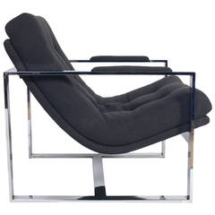 Chrome Lounge Chair by Milo Baughman