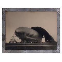 Margaret Bourke White Original Signed Zeppelin Photograph