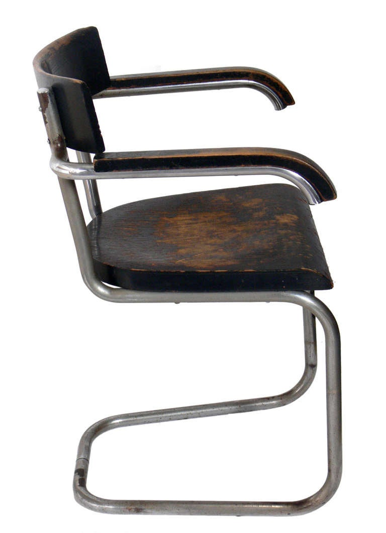 very early modernist chair by mart stam for thonet for sale at stdibs - very early modernist chair by mart stam for thonet