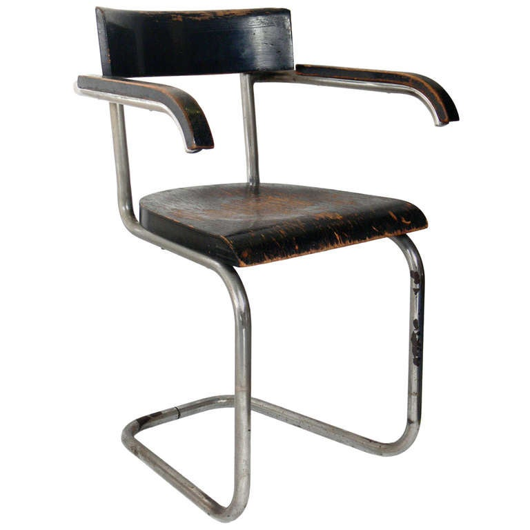 very early modernist chair by mart stam for thonet at 1stdibs. Black Bedroom Furniture Sets. Home Design Ideas