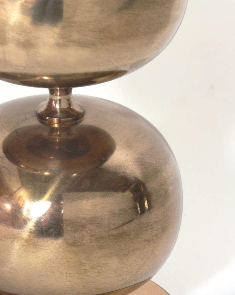 sculptural swedish brass orb lamp by ab stilamatur at 1stdibs. Black Bedroom Furniture Sets. Home Design Ideas