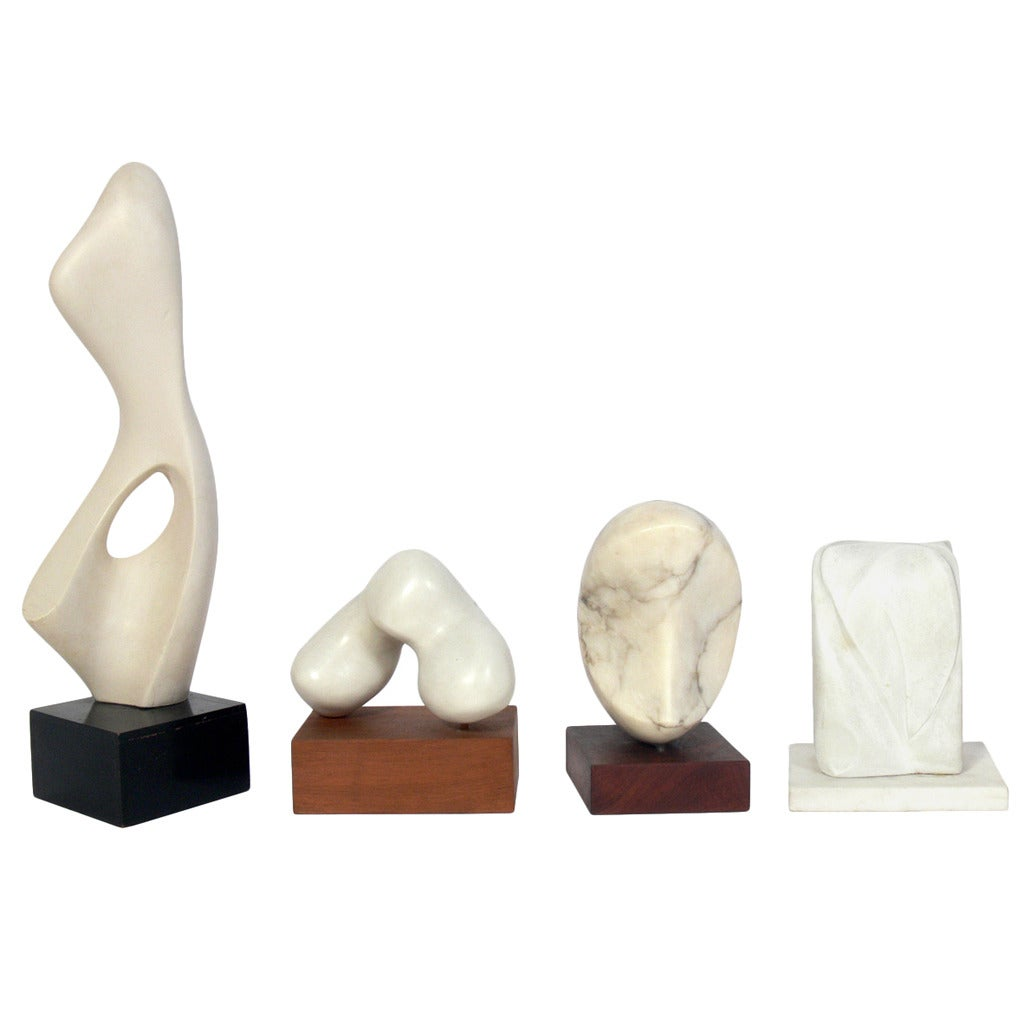 Selection of modern white sculptures at 1stdibs for Modern decorative objects
