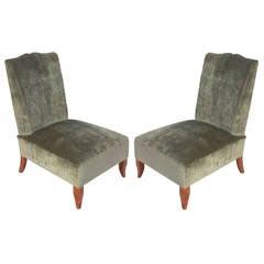 Pair of Elegant Slipper Chairs