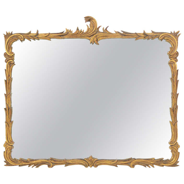 Elegant Gilt Plaster Mirror in the manner of Serge Roche