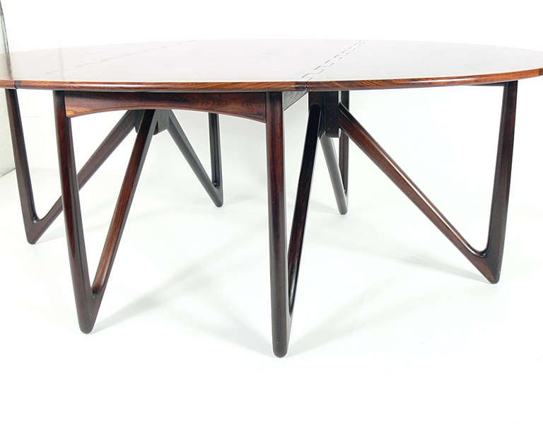 Oval Rosewood Danish Modern Dining Table By Kurt Ostervig At 1stdibs