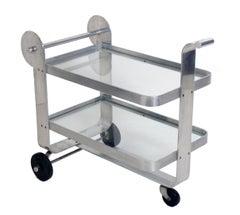 Streamlined Aluminum Art Deco Bar Cart