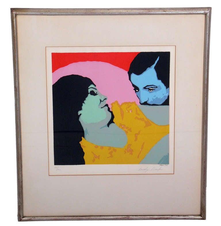 Vibrant Pop Art Lithograph by Rosalyn Drexler at 1stdibs