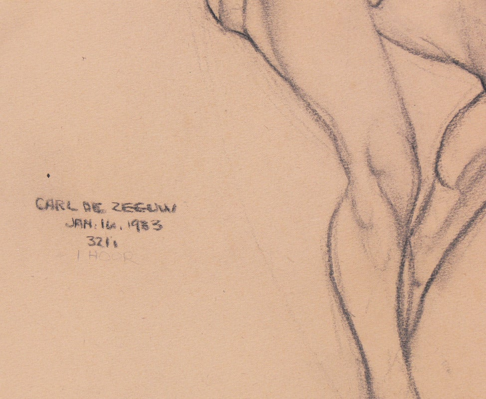 Selection of 1930s Academic Study Drawings of Male Nudes In Good Condition For Sale In Atlanta, GA