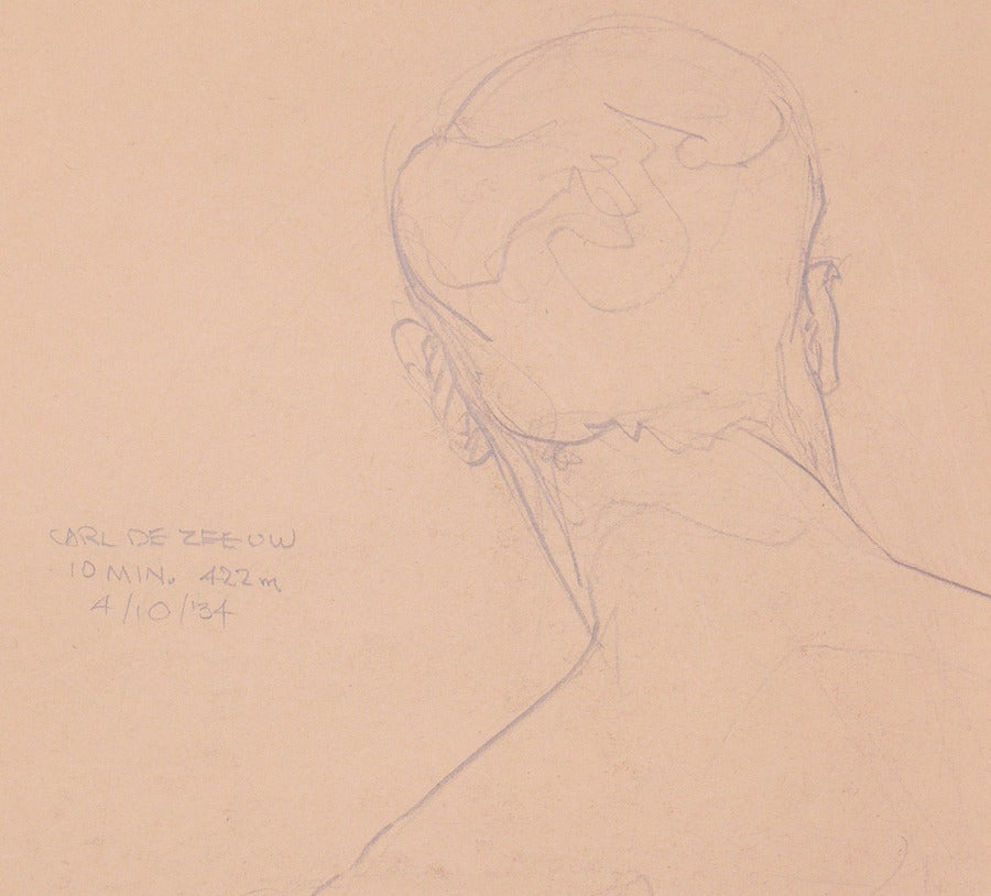 Mid-20th Century Selection of 1930s Academic Study Drawings of Male Nudes For Sale