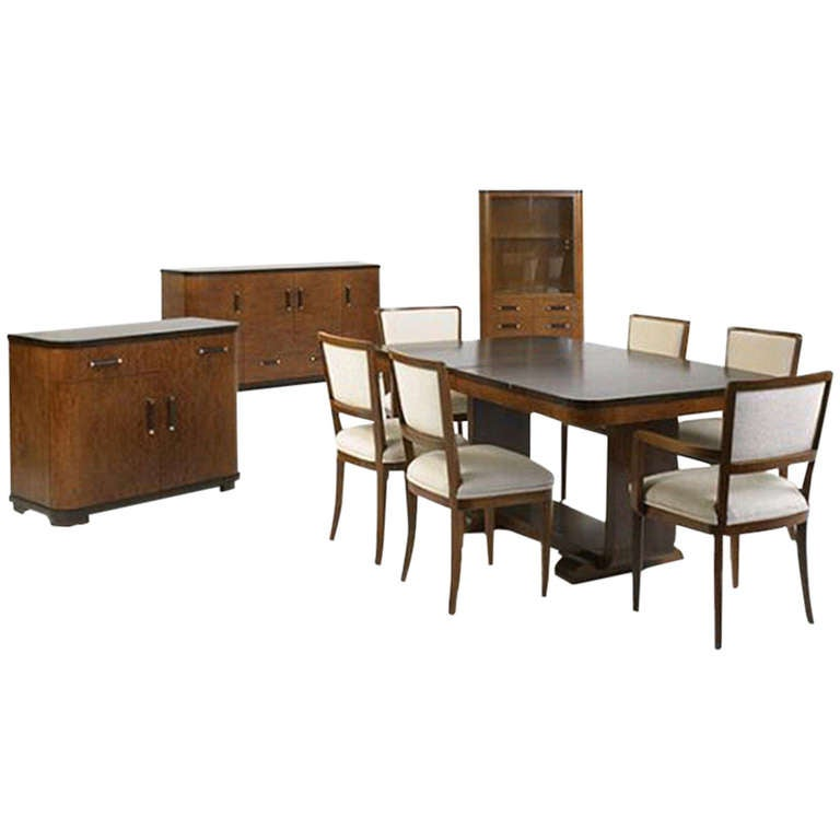 Extremely rare complete dining suite by donald deskey at for Complete dining room sets