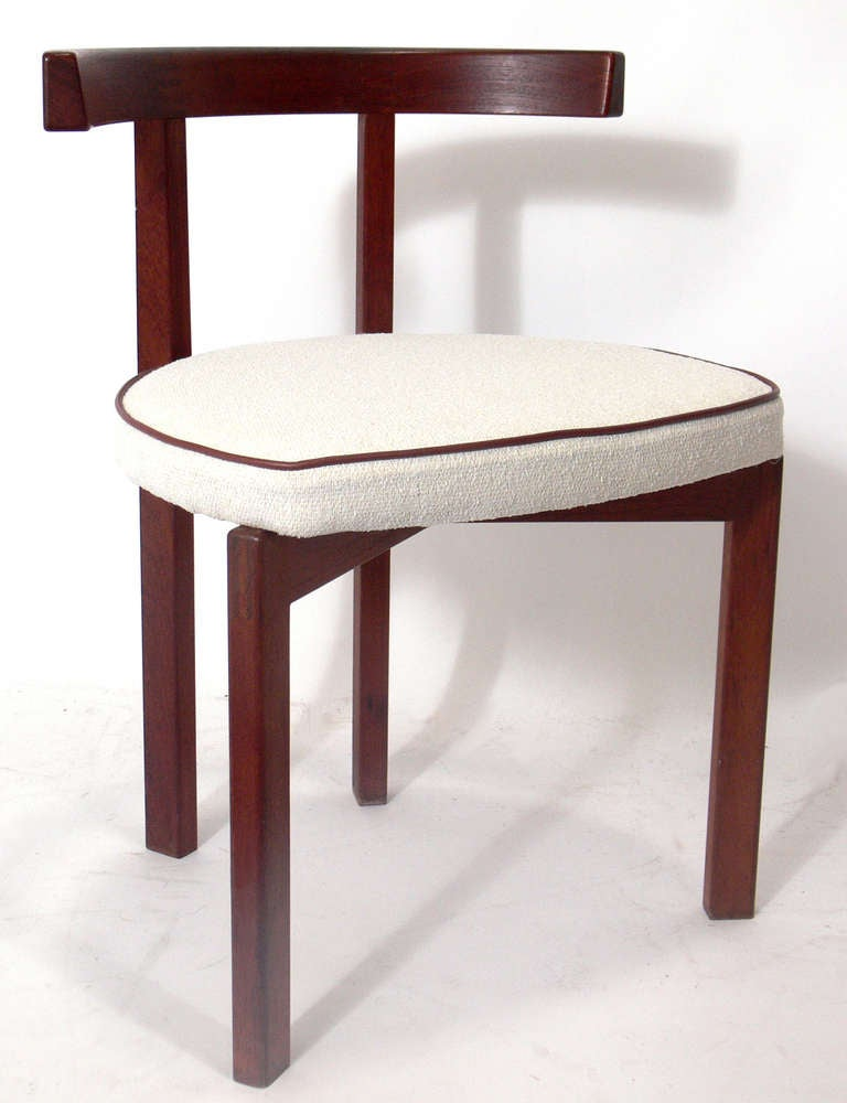 Set of six danish modern dining chairs in the manner of for Modern dining room chairs for sale