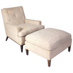 Lounge Chair and Ottoman Designed by T.H. Robsjohn-Gibbings