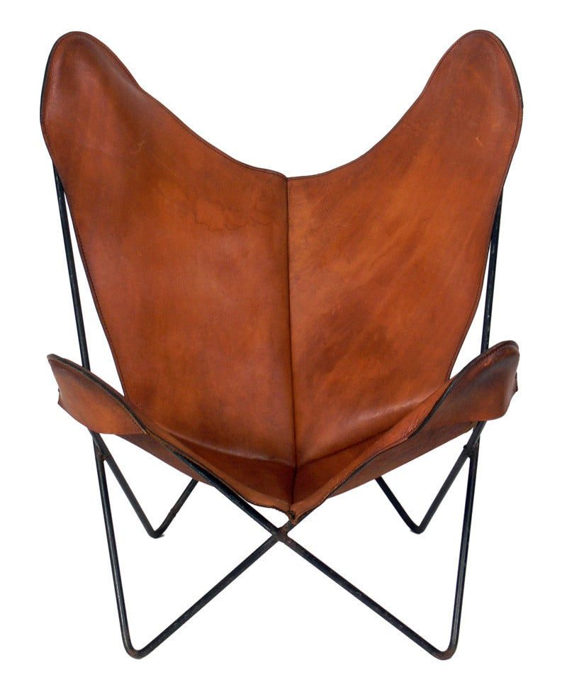 Selection Of Sculptural Leather Sling Chairs At 1stdibs