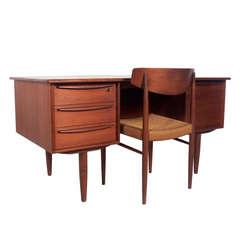 Danish Modern Teak Desk and Chair