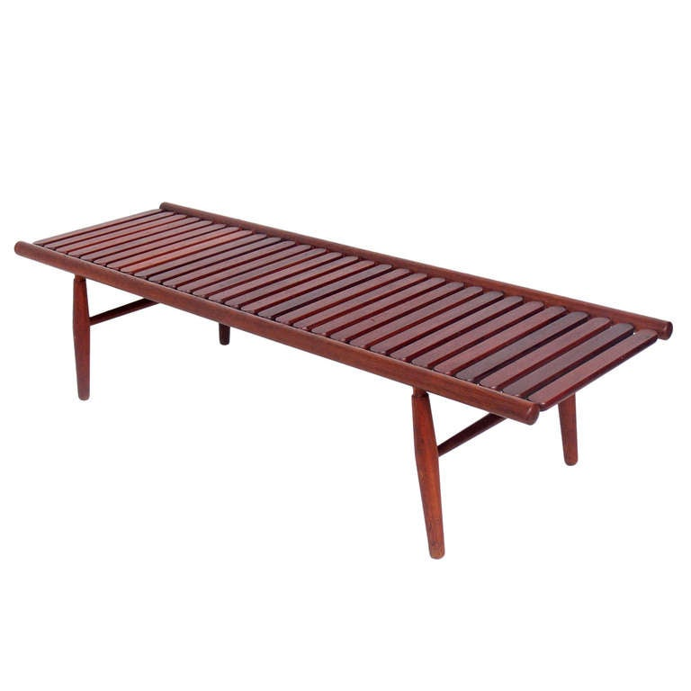Danish Modern Slat Bench Or Coffee Table At 1stdibs