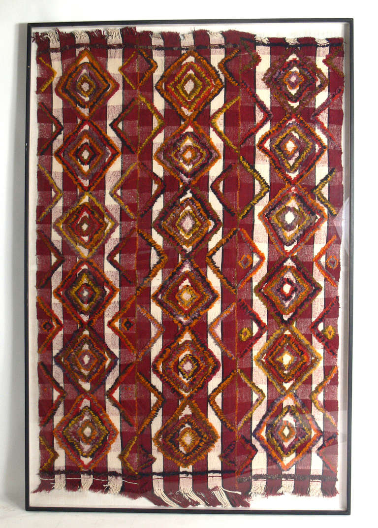 Tapestry Wall Art monumental scale framed moroccan tapestry for sale at 1stdibs