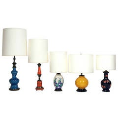 Selection of Colorful Lamps