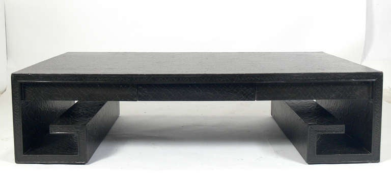 Large Scale Greek Key Coffee Table by Thomas Pheasant at 1stdibs
