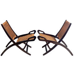 "Pair of ""Nifea"" Lounge Chairs by Gio Ponti"