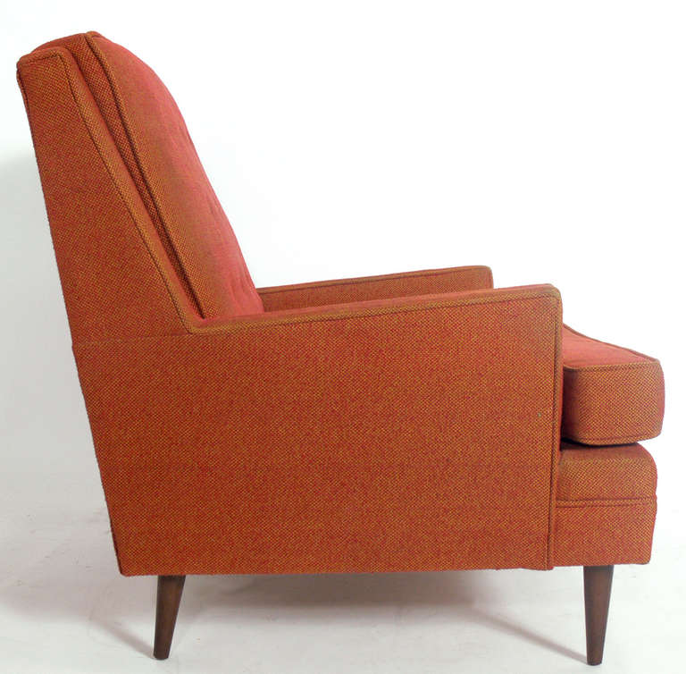 Pair Of Clean Lined Modernist Lounge Chairs In The Manner Of Paul McCobb For