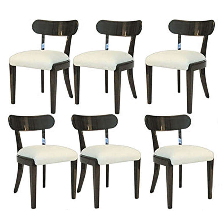 Mid-20th Century Set of Six Dining Chairs Designed by Edward Wormley for Drexel For Sale