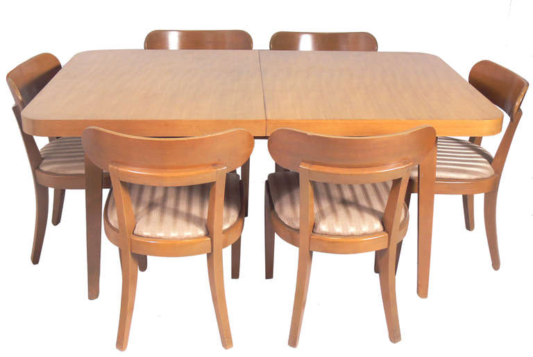 American Set of Six Dining Chairs Designed by Edward Wormley for Drexel For Sale